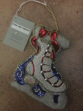 New! KIM SEYBERT ICE SKATE ORNAMENT Figure Skater Beaded Sequin