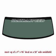 MAZDASPEED -  Windshield Banner Decal Sticker v1