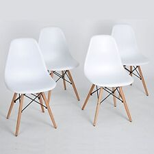 Set of 4 Eames Eiffel DSW Style Side Dining Chair, ELERANBE 18quot; Height with