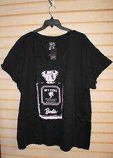 NEW TORRID WOMENS PLUS SIZE 5X 5 BARBIE PERFUME BOTTLE SCOOP NECK TEE SHIRT TOP