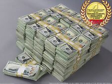 """PROP MONEY USED LOOK New Style """"ONE MILLION"""" Blank Fillers for Movie, TV, Videos"""