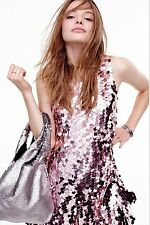 Urban Outfitters Ecote Allover Sequin Shopper Bag Silver Tote Retails $58.00