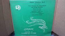 BACH - NEF/COLOMBO 2 CONCERTOS HARPSICHORD & STRING  LP VINYL VG+/EX OL 50042