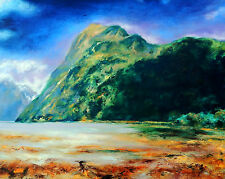 "RICHARD FREER ORIGINAL ""Something in the way"" New Zealand Seascape Sea PAINTING"