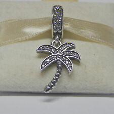New Authentic Pandora Charm 791540CZ Sparkling Palm Tree Dangle Box Included