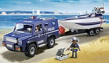 Playmobil Coche de policía con lancha 5187 police car with speed boat