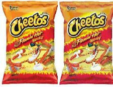 Cheetos Flamin Hot Crunchy 2 Big Bag Pack (9.5oz Each Bag)