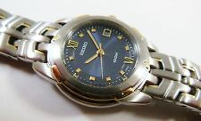 Seiko Two-Tone Stainless Steel 7N82-0AV8 Sample Watch NON-WORKING