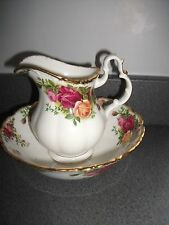 Royal Albert Old Country Roses Water Jug & Bowl first quality 1962 backstamp