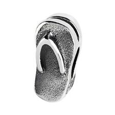 Authentic SilveRado Sterling Silver Flip Flops European Pan Dora Bead