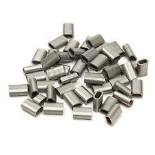 Lot of 50 Stainless Steel Cable Crimps Sleeve for 1/16'' Diameter Wire Rope