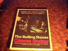 ROLLING STONES GIMME SHELTER ORIG MOVIE POSTER '71 RARE MICK JAGGER