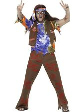 Zombies 60's Hippie Man Halloween Fancy Dress Costume Size Large P9663