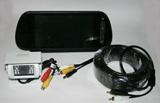 Rear View White Camera and Mirror Monitor System for Motorhome/Truck