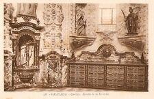 Tarjeta Postal GRANADA. - Cartuja. Detalle de la Sacristía.