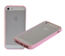 TPU Bumper Frame With Matte Clear Hard Back Case Cover For iPhone SE 5 5S 5C