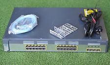 CISCO WS-C3750G-24TS-S SWITCH w/ 24 10/100/1000 + 4 SFP w/racks 1 Yr Wty/Tx Inv