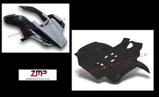NEW HONDA TRX250R PLASTIC BLACK RACE FRONT AND REAR FENDER SET TRX 250R