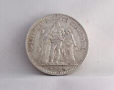 5 FRANCS argento HERCULE 1877 FRANCIA III REPUBBLICA