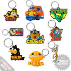 PVC Keyrings Various Retro Designs Cool Funky Gift Present Keys Bag TV Films