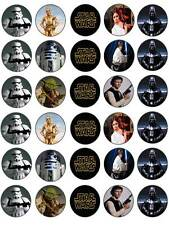 30 Star Wars Boy's Birthday Edible Paper Cake/Cupcake Toppers