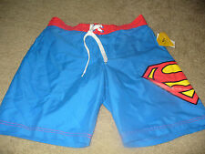 Superman Mens DC Comics Blue & Red Board Shorts Swimsuit Size 30