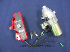 Honda GX160 & GX200 Ignition Switch Box With Starter Motor & Solenoid With Keys