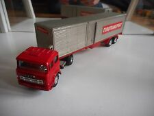 "Shinsei Mini Power Fiat Truck + Trailer ""Eurotransport"" in Red/Grey on 1:64"