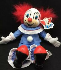 """Bozo The Clown Red White Blue Plush 14"""" Toy Yes Club 2000 Larry Harmon Pictures"""