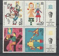 Uruguay 1970 Sc#789a Unesco-International Education Year(with labels) MH