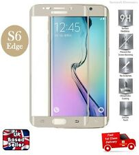 Brand New 3D Curved Tempered Glass Screen Protector for Samsung S6 Edge GOLD