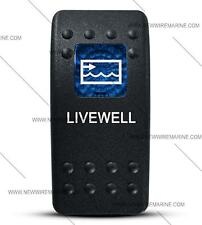 Labeled Contura II Rocker Switch Cover ONLY, Livewell (Blue Window)
