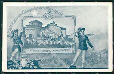 Milano città Inaugurazione Caserma Luciano Manara Bersaglieri cartolina QT5509