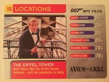 The Eiffel Tower A View To A Kill #19 Locations - 007 James Bond Spy Files Card