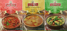 9 Packs Mae Ploy Curry Paste. 3 Red 3 Yellow 3 Green. MSG Free