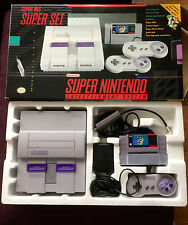 Super Nintendo SNES Console System Box Boxed Complete CIB Beautiful Shape! RARE