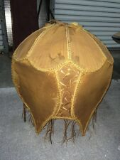 "Vtg Victorian Scalloped Tulip Wire Lampshade Frame 20"" X 19"" Steam Punk Shabby"
