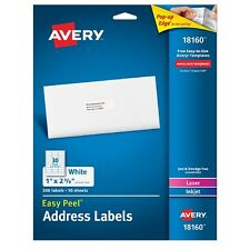 Avery Address Ink Jet Labels 1 x 2.6 Inches, White 300 ea