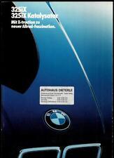 BMW  325iX,325iX KAT  PROSPEKT '86 (BROCHURE)