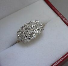 ANTIQUE VICTORIAN 14K YELLOW GOLD ROSE CUT DIAMOND EAST WEST RING - 2 GRAMS