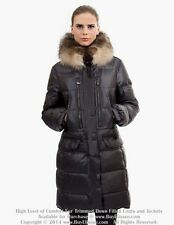 ~ Goose Down Coat Jacket Parka w/ Raccoon Fur sz L US 10 EU 42 $895 Пуховик Енот