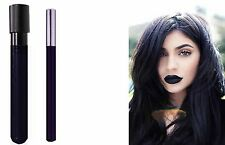 2pc Black Matt Kiss-Proof Lipstick LipColour Wand Set with Davis Lipliner