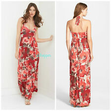 NWT L $148 TOMMY BAHAMA WOMEN Ruby Beach Floral Halter Maxi Dress Large 12-14