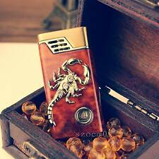Cool Scorpion Style Butane Gas Jet Flame Cigar Cigarette Windproof Lighter QW