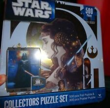 STAR WARS COLLECTORS PUZZLE SET- INCLUDES FOIL PUZZLE AND POSTER PUZZLE MIB