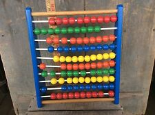 Vintage Children's Counting Wood Beads Toy Colorful