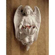 Victorian Angelic Wall Shell Font Cherub Angel Wall Sculpture Decor NEW