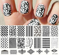 BORN PRETTY Nail Art Stamping Plate Triangle Geo Pattern Image Template BP-L009