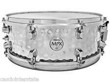 "Mapex MPST4558H MPX 14"" x 5.5"" Hammered Steel Snare Drum Chrome Finish New"