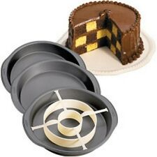 Wilton Checkerboard Cake Pan Set NIB Reveal Color surprise